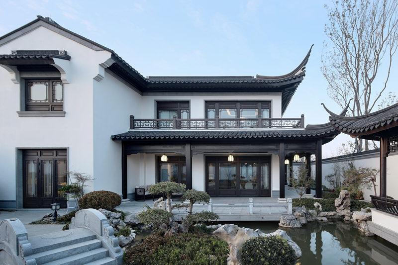 陕西轻钢别墅中式风格施工案例