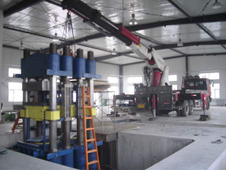 硫化机下坑组装