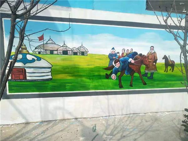 文化墙彩绘施工