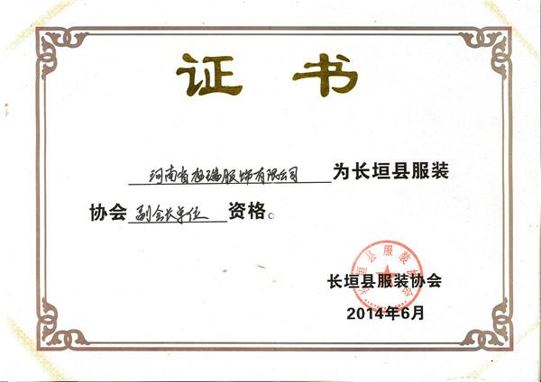 副会长单位证书