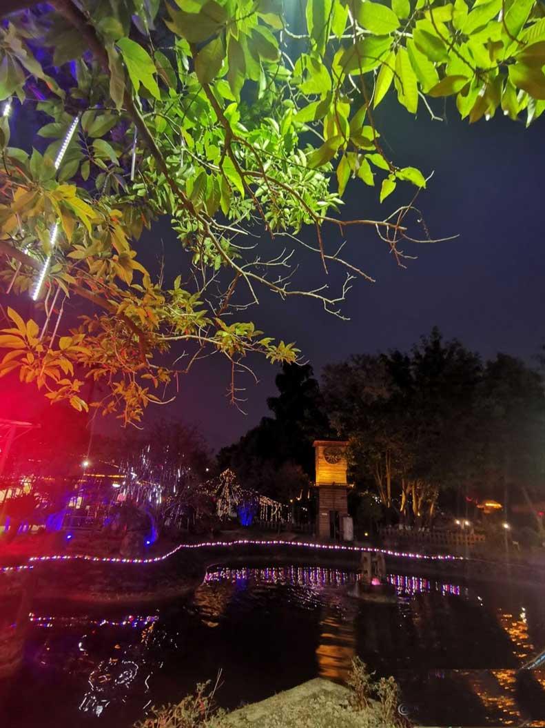 新都尚合宴柴火鸡喷泉水景