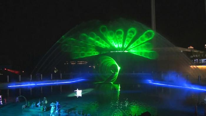 喷泉水景的总体布局的建筑美学原则