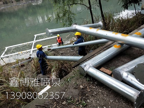 鑫博雅喷泉为汶川三江再增亮点——音乐喷泉正在建设