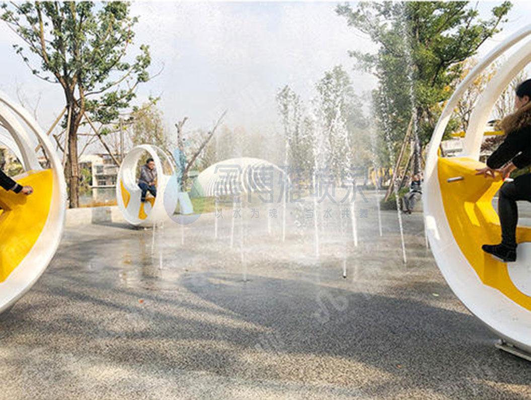 互动自行车喷泉