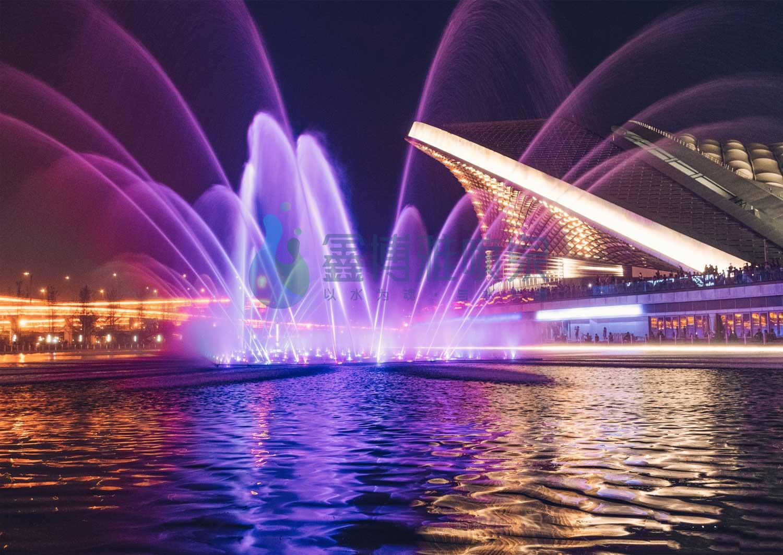 成都露天音乐公园大型音乐喷泉项目