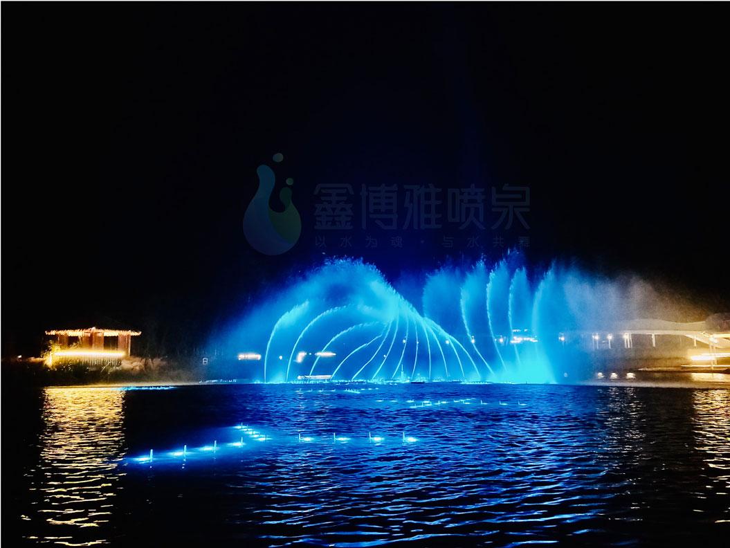 汶川三江七星伴月湖面喷泉app