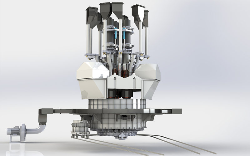 矿热炉总装三维图