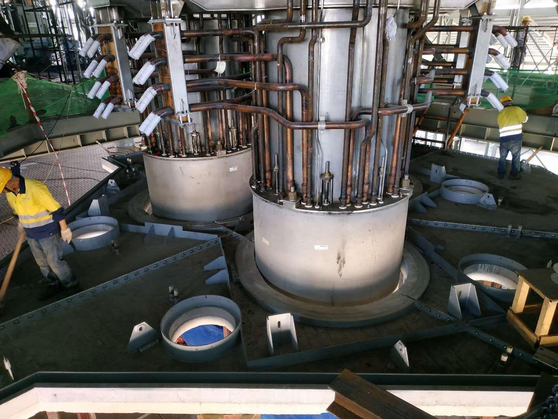 硅铁炉安装案例