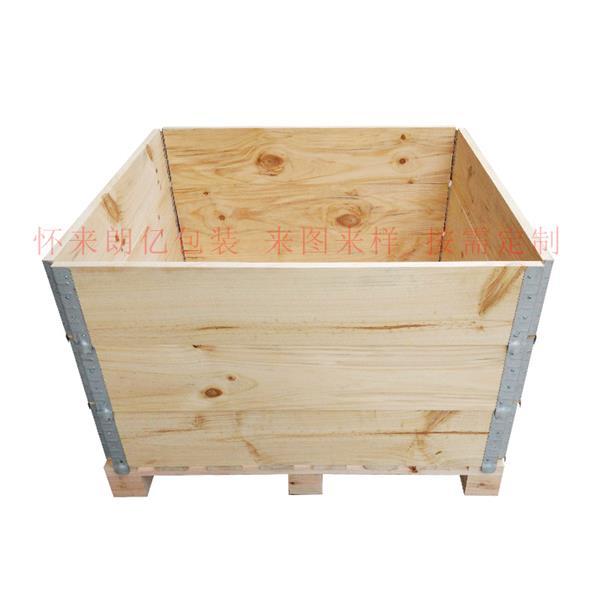 张家口实木钢边木箱