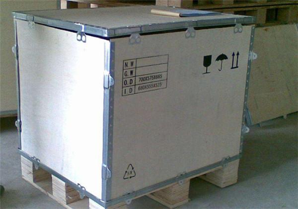 张家口木制品包装钢边箱快速安装方式!