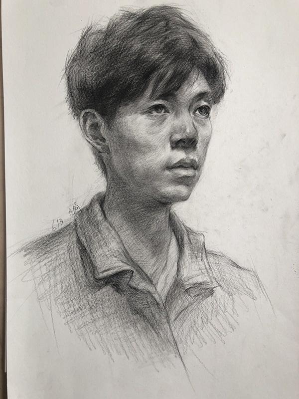 素描作品-兰州艺博美术