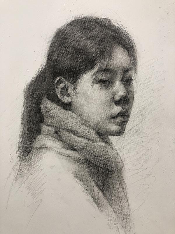 兰州美术培训-艺博美术学校素描作品