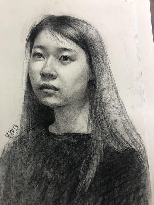 兰州艺博美术培训素描作品