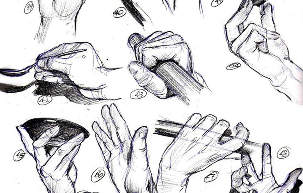 速写训练中,还不会画手部细节?