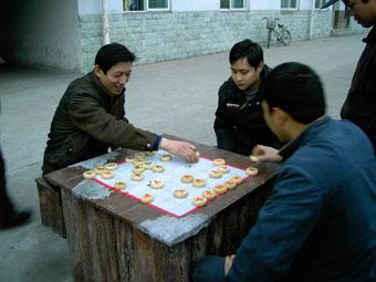 公司组织象棋比赛