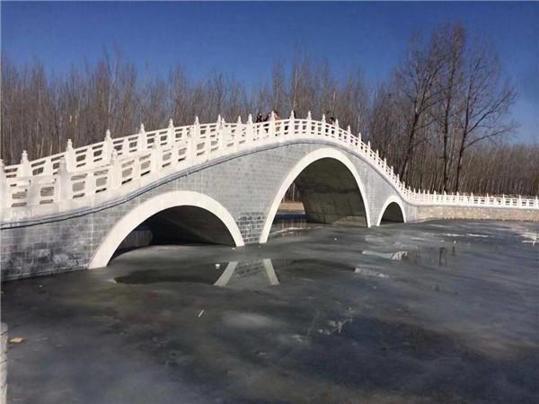 宝鸡蔡家坡公园拱桥栏板工程