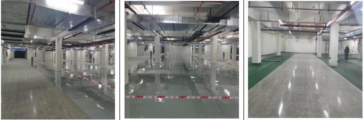 西宁红星天铂项目金刚砂及固化地坪施工