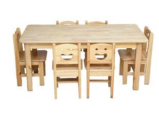 成都幼儿园家具-实木桌椅