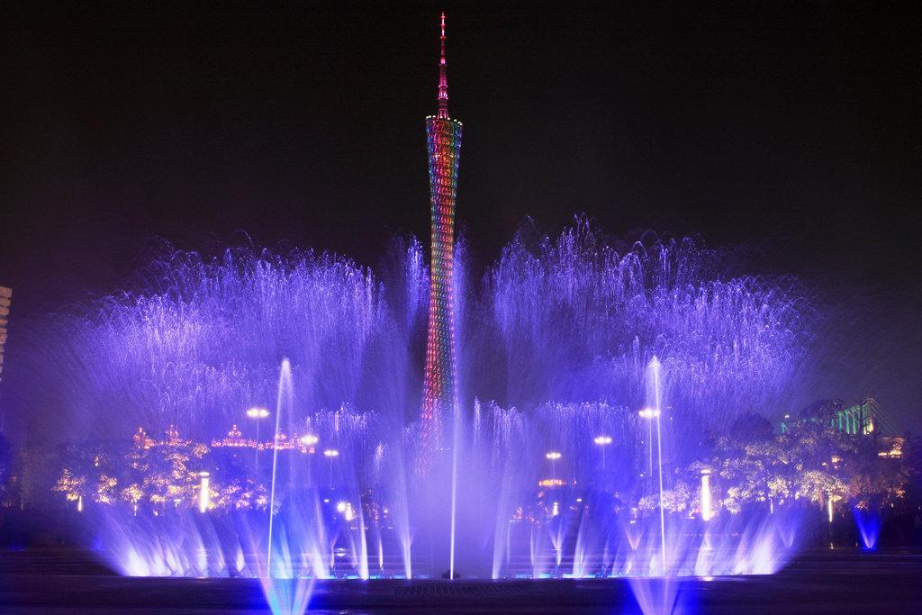 成都广场音乐喷泉出现渗漏现象的处理方法