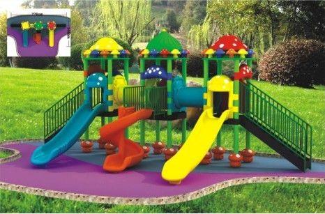 英利来为你介绍成都幼儿园滑梯的材质和分类