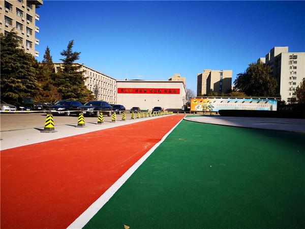 北京黄寺大街7号院部队塑胶步道工程