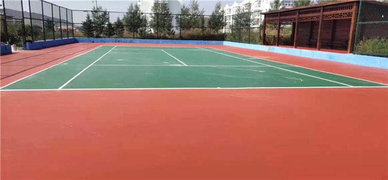 内蒙古桃合木镇政府网球场工程