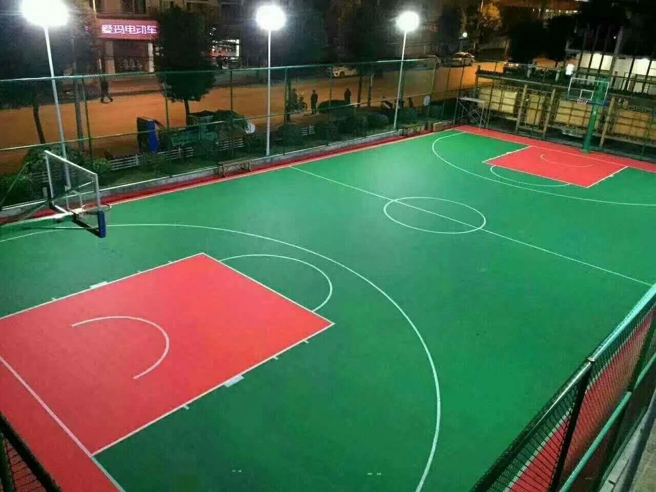 金华市婺城区政府硅PU篮球场