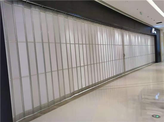商场20米水晶侧拉门交付使用成功案例