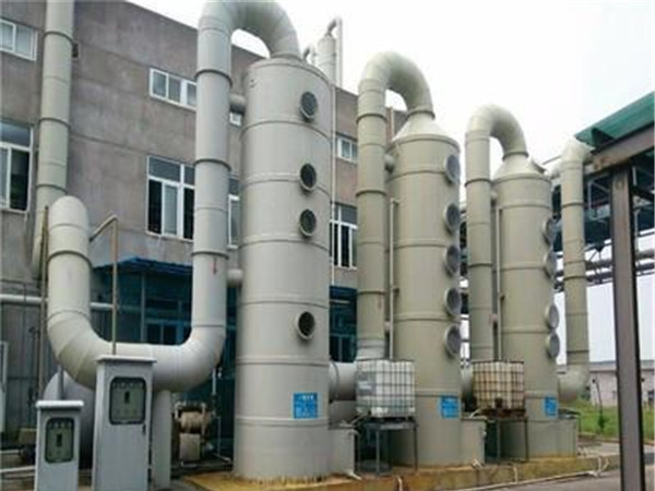 河南喷淋塔厂家浅谈废气处理喷淋塔结构图