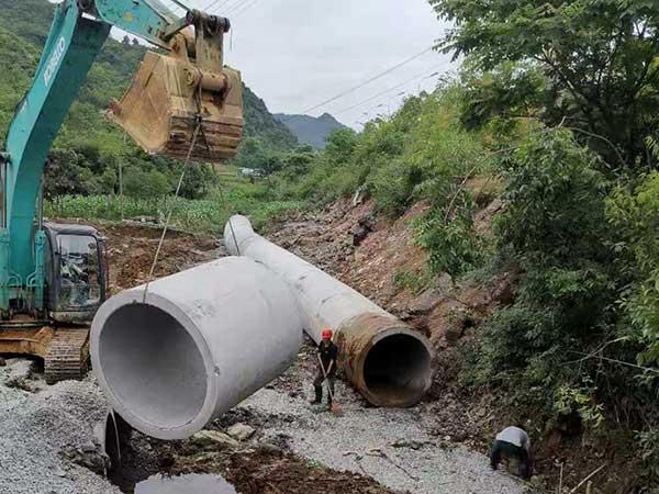 水泥管安�b案例