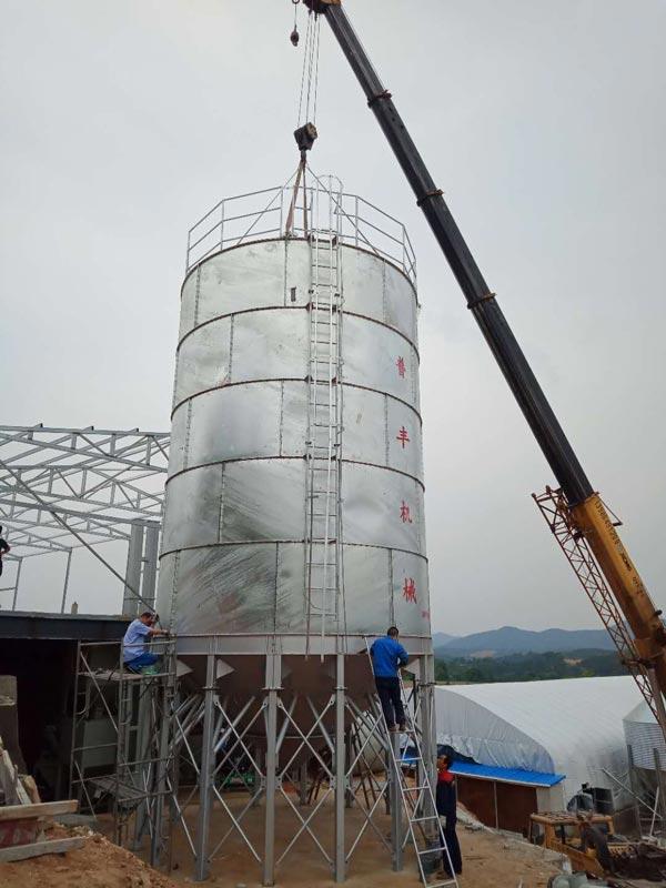 湖北镀锌板饲料塔安装