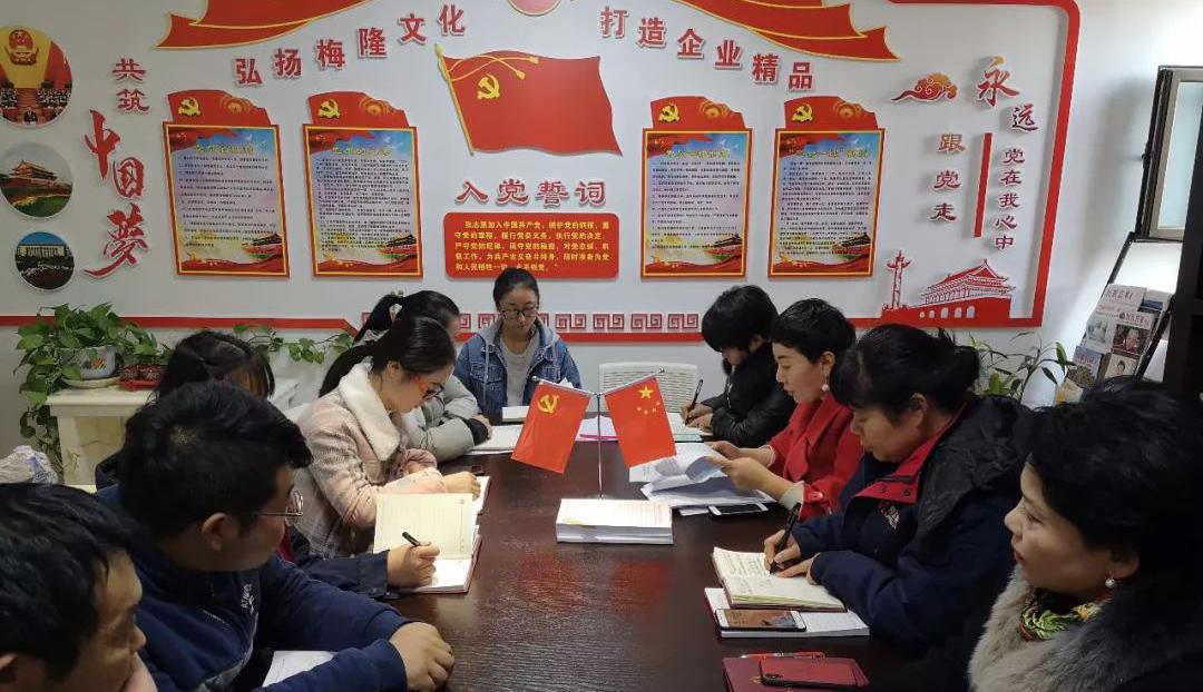 甘肃梅隆石材集团有限公司党支部12月份 主题党日教育学习活动