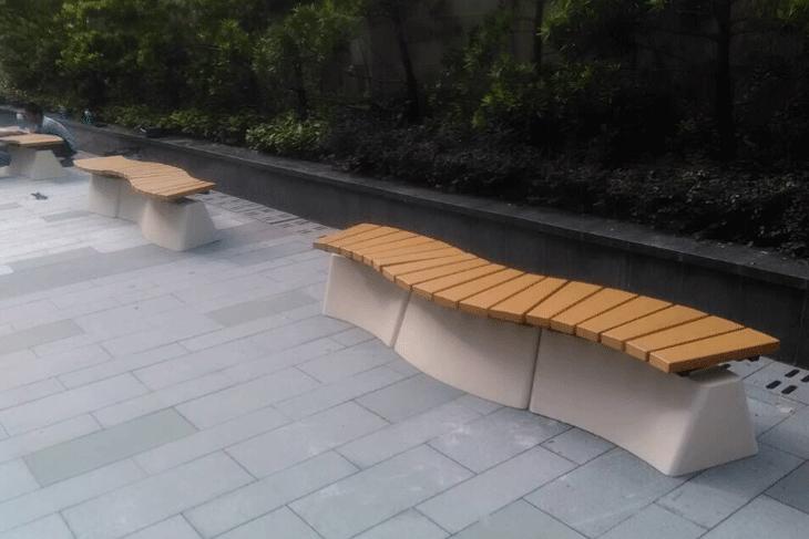 长乐社区公园休闲座椅,方便居民群众