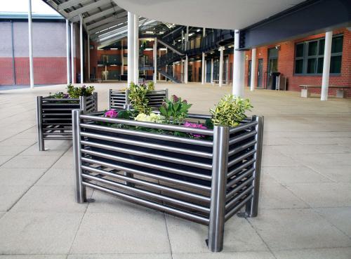 不锈钢花盆花箱