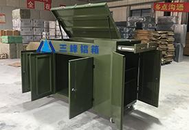 军绿色收纳柜包装箱