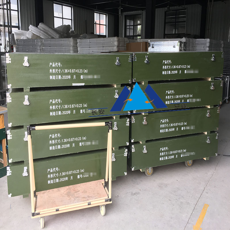 绿色木包装箱