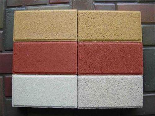 湖北彩色透水磚