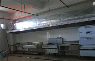 厨房排烟施工案例:新郑龙湖正佳能源