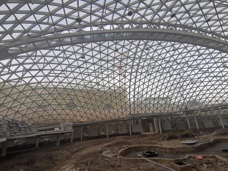 蓝田县养老院钢结构施工