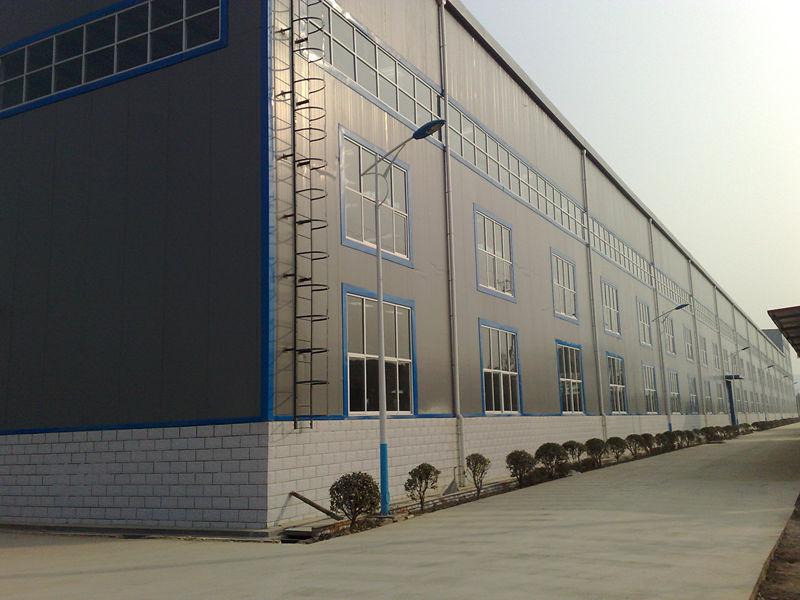 宝鸡乐泰钢结构厂房施工案例