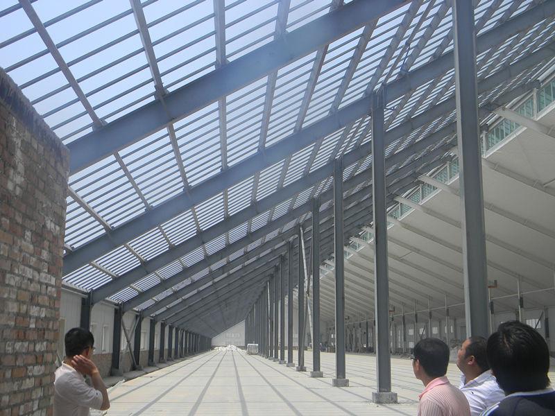 大荔能源公司钢结构厂房案例