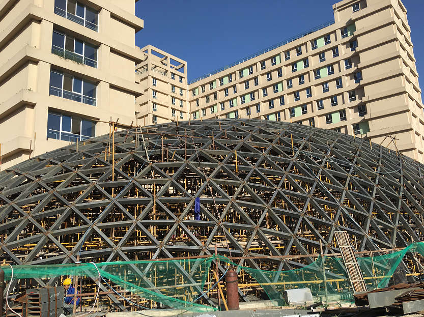 陕西蓝田县秦达老年公寓钢结构工程