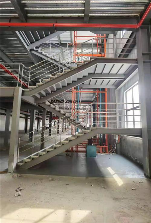 三元科技蓝田工业园楼梯工程案例