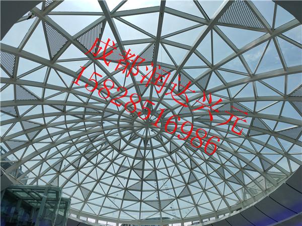润达兴元成功案例 ——自贡某商场穹顶玻璃贴隔热膜,