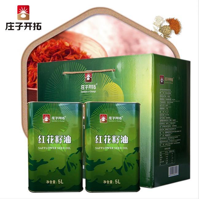 新疆5L铁桶有机红花籽油
