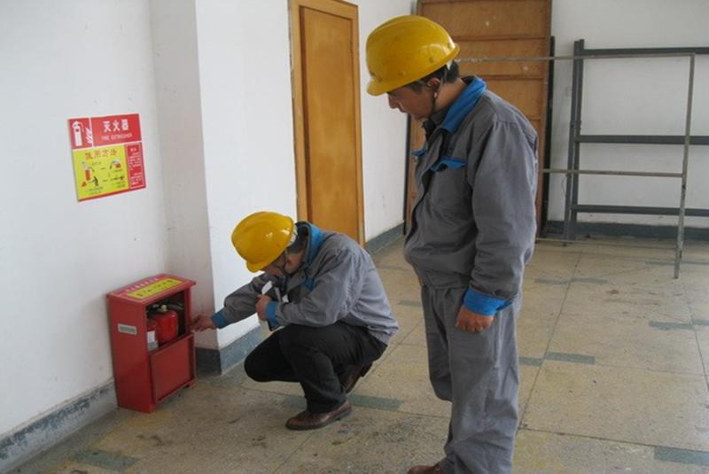安宇消防对某公司消防进行检测