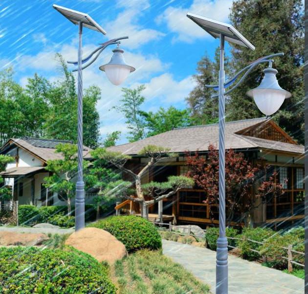 太阳能庭院灯很有特色,物美价廉!