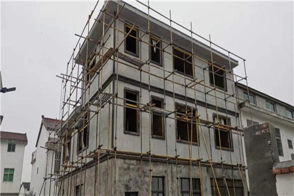 轻钢房屋施工现场图
