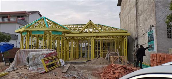 轻钢房屋施工案例