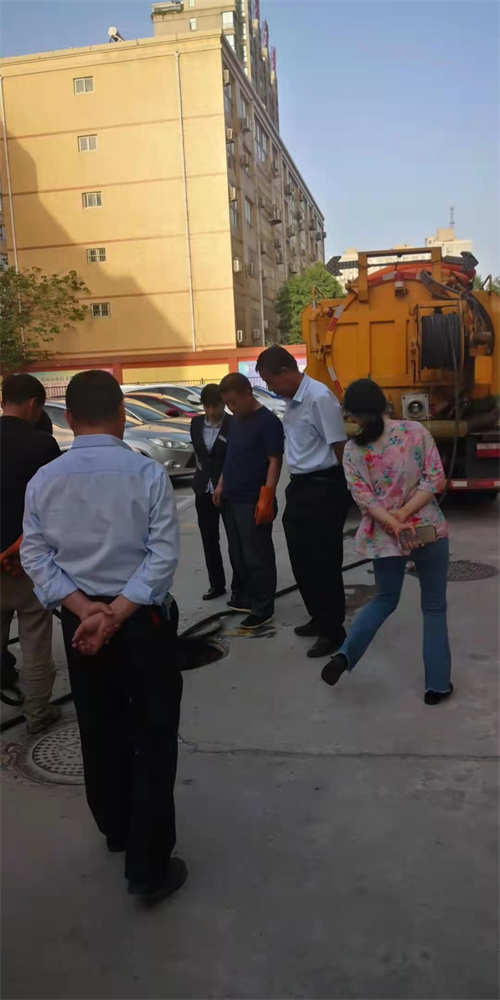 渭南某银行疏通清洗管道